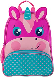 Pink and Teal Unicorn Sidekick Backpack Book Bag for Back to School