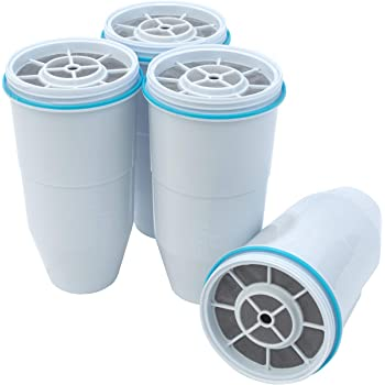 ZeroWater 5-Stage Replacement Filter, 4-Pack, White