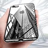 Coque iPhone 8, Coque7, KKtick Housse Etui iPhone 8 TPU Silicone bumper Case Absorption de Choc et Anti-Scratch Cover de Protection pour Apple iPhone 8/iPhone7 (Jet Black)