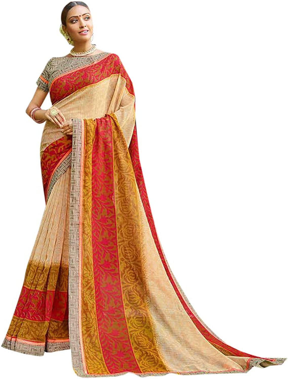 Indian Ethnic Bhagalpuri Saree with Blouse piece Designer Women Sari Party wear Bespoke 7808