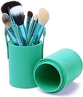 Make-up kwasten, elk set van 12 stuks beauty tools wollen borstelset cilinder dierlijk haar geschikt voor beginners zachte...