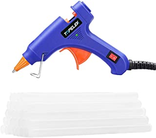 Hot Glue Gun, TopElek Mini Glue Gun Kit with 30pcs Glue Sticks, High Temperature Melting..
