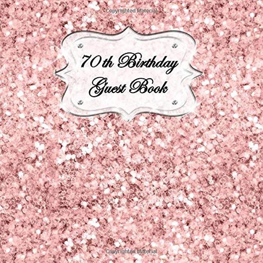 金銭的な決定喉頭70th Birthday Guest Book: Sign In, Wishes, Messages, and Comments. Includes Gift Log Pink Shiny Glitter V1