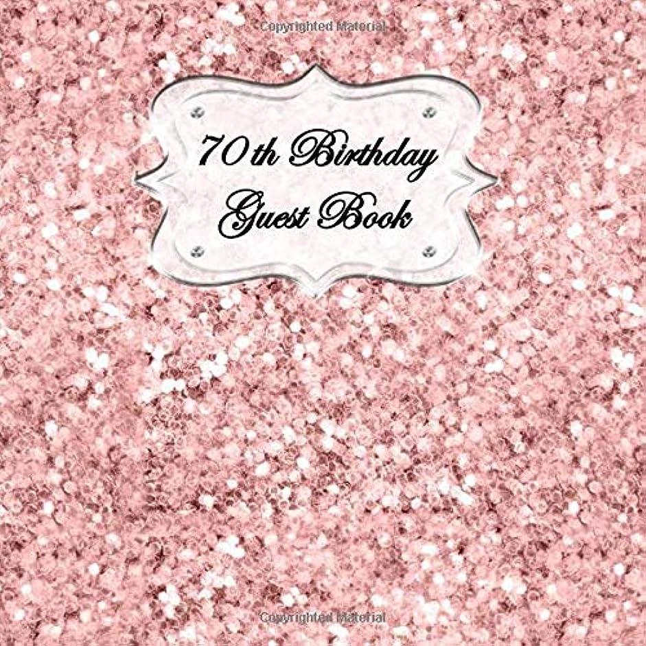 ポップ介入するカメラ70th Birthday Guest Book: Sign In, Wishes, Messages, and Comments. Includes Gift Log Pink Shiny Glitter V1
