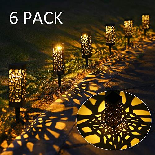 Solarleuchte Garten, 6 Stück Warmweiß Led für außen Wasserdicht, Tomshine Solar Dekorative Licht für Landschaftsrasen Terrasse Rasen Patio
