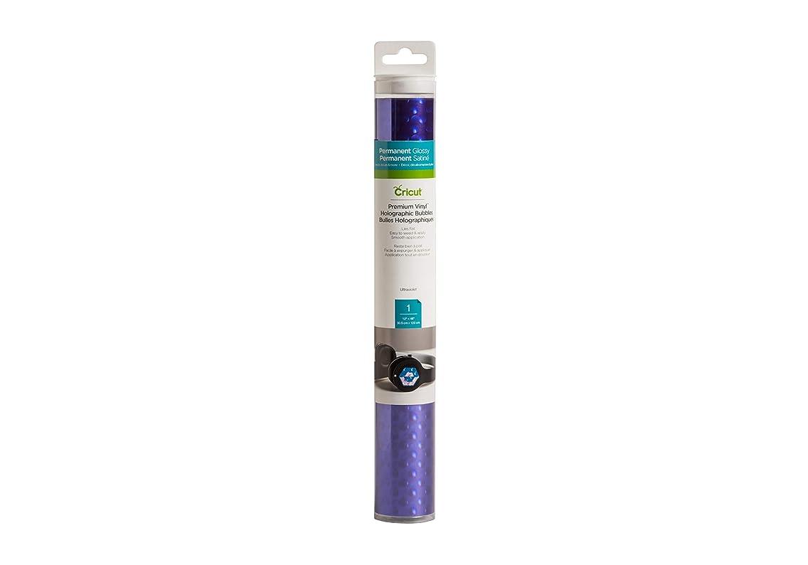 Cricut 2006548 Ultraviolet Vinyl, Premium Permanent-Holographic Bubbles