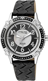 Q&Q Dress Watch For Women Analog Leather