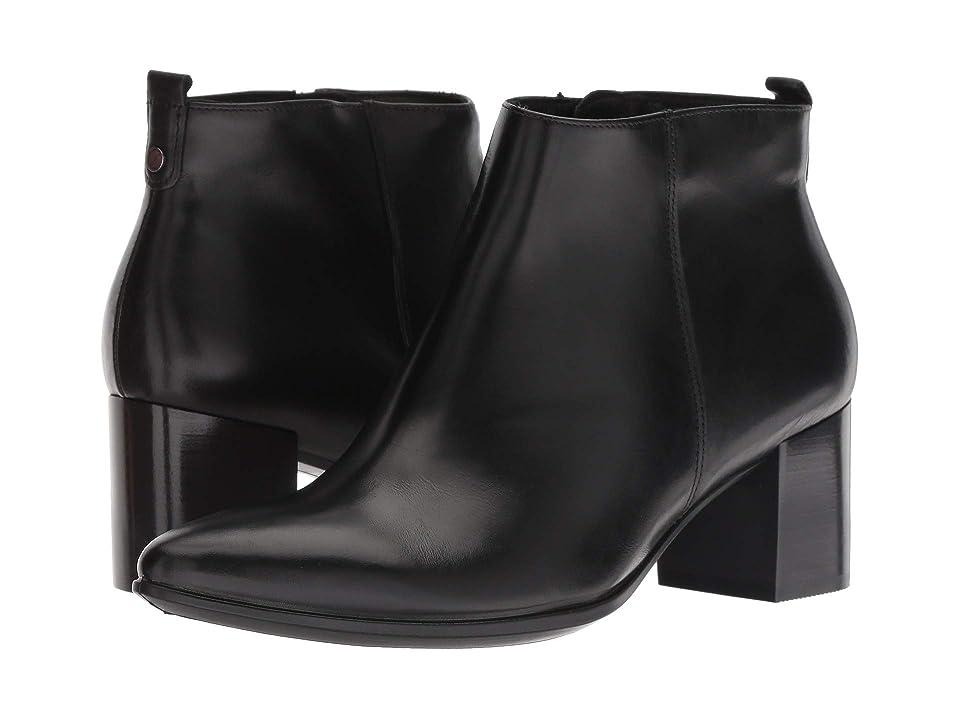 ECCO Shape 45 Block Bootie (Black Calf Leather) Women