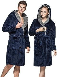 Peignoirs Homme,Robe De Chambre Pour Hommes Chaud Pour Automne Hiver,CIELLTE Homme Peignoir Polaire Hiver Peignoir De Bain Flanelle Robe De Nuit S//M//L//XL//2XL3XL//4XL//5XL