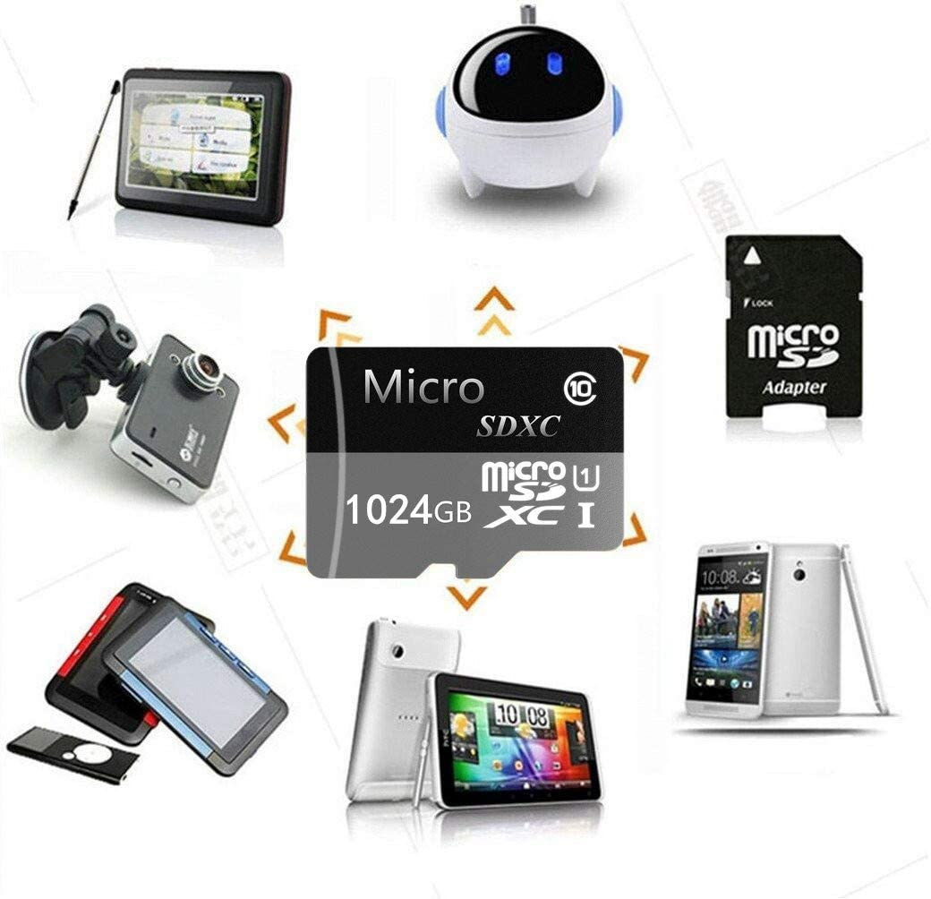 Micro SD Card 1TB High Speed Class 10 Micro SD SDXC Card with Adapter for Android Smartphones