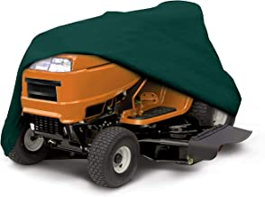Ecover Dustproof Lawn Mower Cover Riding Lawn Tractor Cover UV Protection Universal Fit with Drawstring Cover Storage Bag, L7.9 x W1.6 x H3.9ft Dark Green