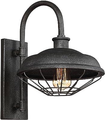 Lampe murale élégante ALVER anthracite métallique B : 30 cm de qualité supérieure, design industriel, lampe de salon, chambre à coucher