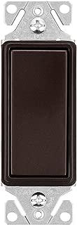 EATON 7501RB-K-L Wiring Decorator Switch, 120/277 Vac, 15 A, 1 Pole, 5.833 In L X 3.85 In W X 1.83 In D