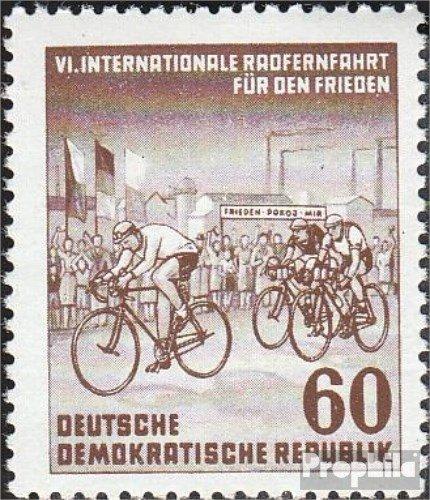 Prophila Collection DDR 357Y II, seltenes Wasserzeichen 1953 Internationale Radfernfahrt (Briefmarken für Sammler) Fahrräder