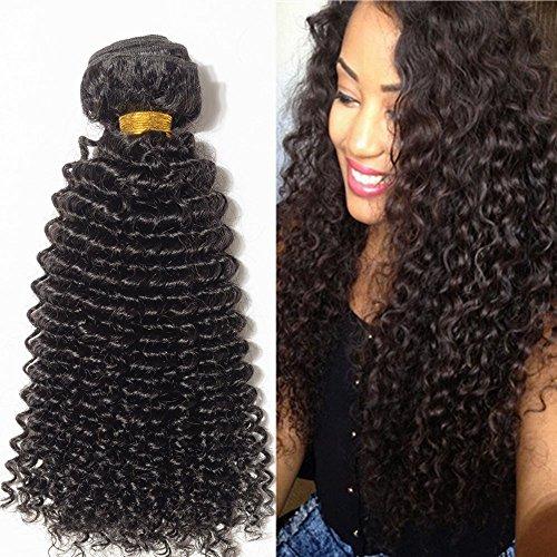 Tissage Bouclé Bresilien Mèches Bresiliennes Extension Cheveux Naturel Noir Naturel - Brazilian Virgin Remy Human Hair Kinky - 22\