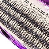 Scala 120pcs 0.10mm Thickness Handmade Fish Tail False Lahses Thick Natural Long Black Individual False Eyelashes Fake Eye Lashes Extensions Makeup Tool (16mm)