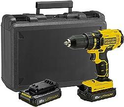 STANLEY FATMAX FMC601C2K-QW - Taladro atornillador 18V con 2 baterías de litio 1.3Ah y maletín
