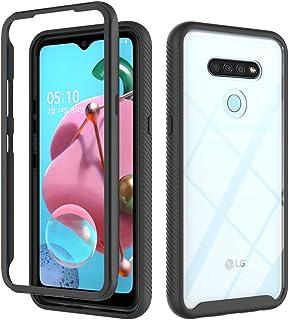 Wellci LG K51 Case, 360° Protection,Anti Fingerprint Slim Fit Design Scratch Resistant Phone Case for LG K51 (Black)