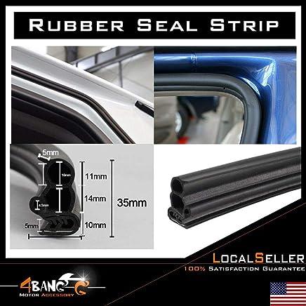 "Rubber Seal Bulb Metal Edge Trim Embellish SUV Vehicle Truck Window Trunk 120/"""