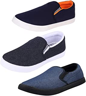 Earton Multicolor Men Combo Pack of 3 Casual Loafers & Moccasins Shoes