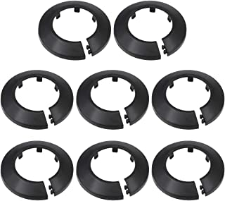 uxcell Pipe Collar 50mm PP Radiator Escutcheon Water Pipe Cover Decoration Black 8 Pcs