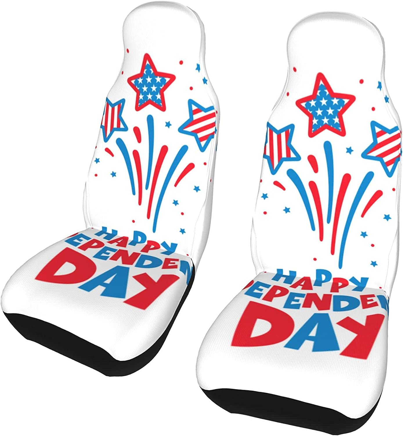 Inrubie Fourth of Seasonal Wrap Introduction Over item handling July Independence Day Seat Car Covers Pcs Fr 2