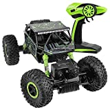 SZJJX Control Remoto Coche Off-Road RC Trucks Vehículo Potente 2.4Ghz 4WD 1:18 Carreras Coches de Escalada Radio Electric Rock Crawler Buggy Hobby Toy para niños Regalo-Verde