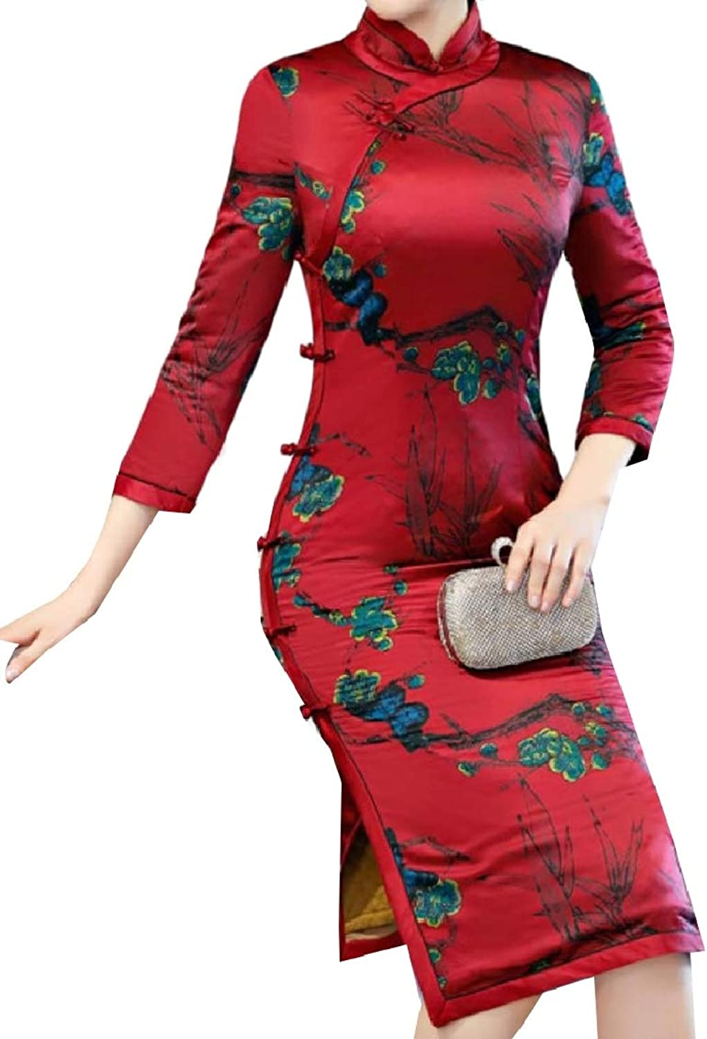 Coolhere Women Fashion Floral Printed Party Bodycon Dress Photography Dress