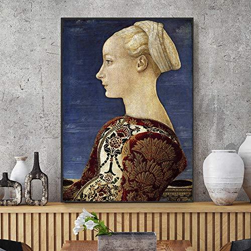 Baodanla Geen lijst voor papierwol, Knight prachtige dames in HD-olie, druk woonkamer, gang restaurant behang