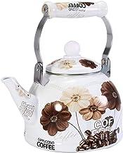 GPWDSN Czajnik elektryczny – 2 l emaliowany dzbanek do herbaty vintage liść luźne herbata dzbanek do kawy emalia stal powl...