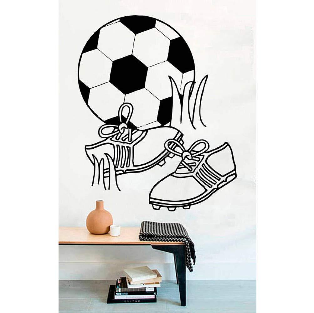 Hllhpc Fútbol Pelota De Fútbol Botas Jugar Pegatinas De Pared Para Nursery Niños Niños Dormitorio Sala De Juegos De Vinilo Calcomanías Sala De Estar Decoración Del Arte 56 * 68 Cm: Amazon.es: