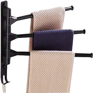 Towel Rack Holder, Towel Bars Holder Swing Towel Racks Wall Mounted Towel Holder with Hooks 3-Bar Oil Rubbed Bar Swivel Hanger Swivel Towel Rack Towel Holder Swing Bar Rack Towel Bar Swivel Hanger