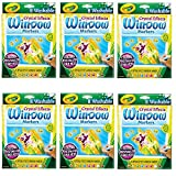 Crayola Window Markers with Crystal Effects, 6 Pack