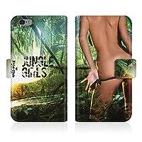 Evis Club 手帳型 スマホケース 薄型 apple iPhone 11 iPhone11 用 JUNGLE GIRLS Sexy セクシーガール ヌード プレイボーイ 2270