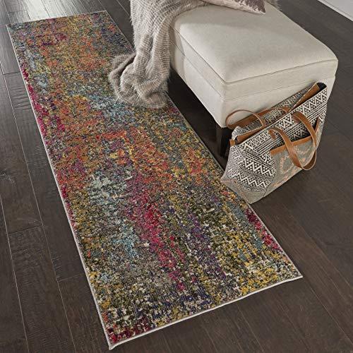 Marca de Amazon - Movian Dospat, alfombra rectangular, 228,6 de largo x 66 cm de ancho (diseño geométrico)