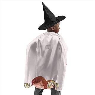 YUIOP Deluxe Halloween Children Costume Bride Groom Wizard Witch Cloak Cape Robe and Hat Set