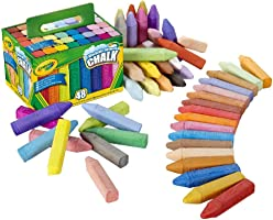 CRAYOLA Washable Sidewalk Chalk, Creative Outdoor Art, Perfect for Outdoor Kids' Activities and Games!, Multi, 48 ct...