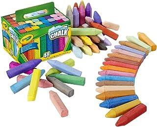 Crayola Children's Sidewalk Washable Anti-Roll Bright Coloured Chalks Box Of 48 , Multi-Colour