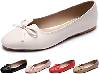 CINAK Women's Ballet Flats Comfort- Round Toe Casual Slip-on Walking Dress Shoes