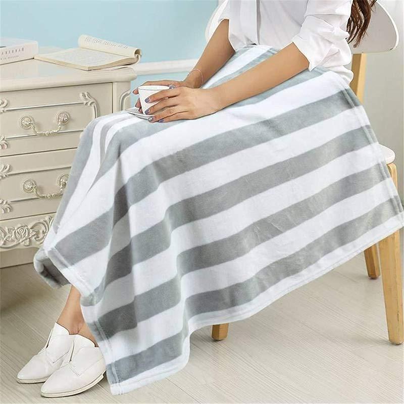 LPUGD Small Blanket Cover Legs Napping Blanket Office Blanket Thickening Single Knee Blanket Children Baby Coral Blanket Winter