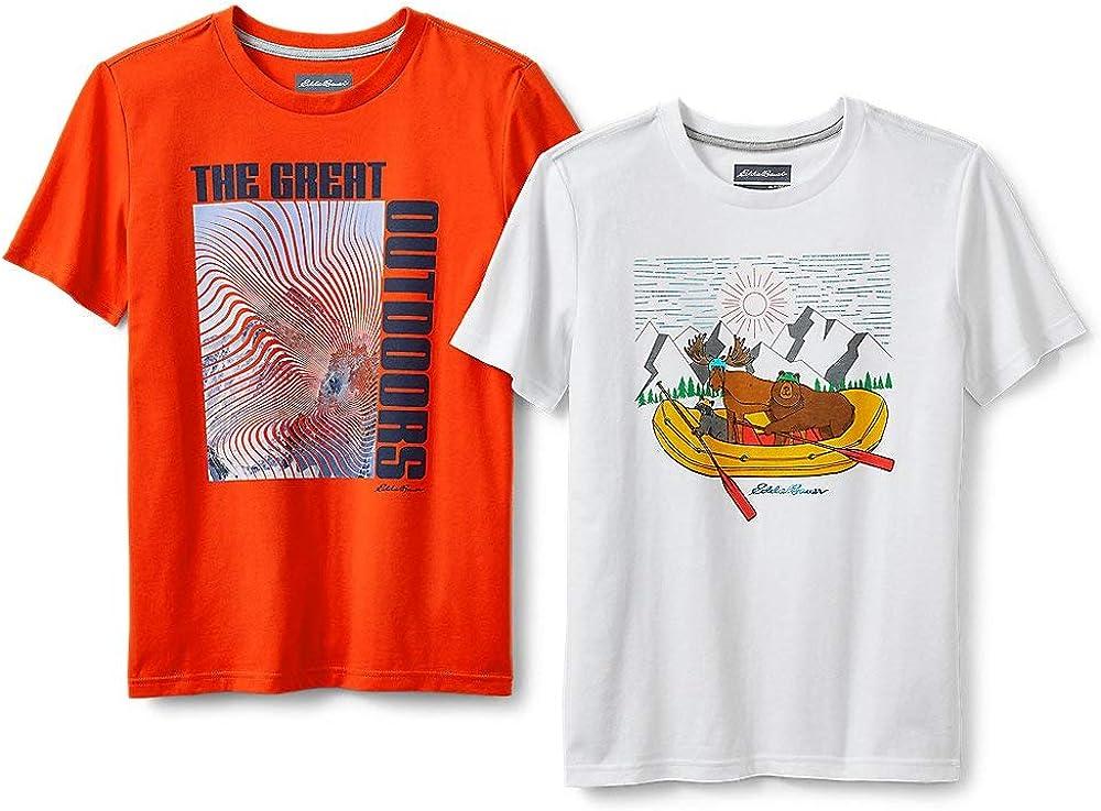 Eddie Bauer Boys' Graphic T-Shirt Bundle