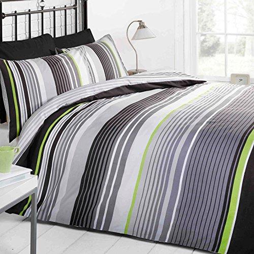 Just Contempo - Cambridge Bettwäsche Set farbenfroh gestreift Einzelbett Doppelbett Größe