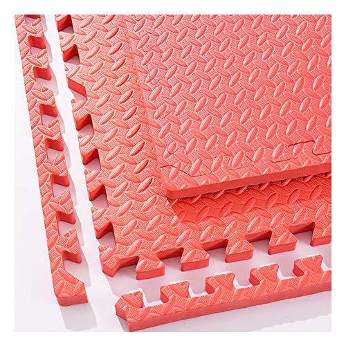 WUZMING-Tapis Puzzle En Mousse Doux Tuiles Imbriquées Ménage Plancher De Mousse Coussin De Protection Bébé Rampant Tapis De Couture for Enfants, 9 Couleurs (Color : Red, Size : 60x60x1.0cm-32pcs)