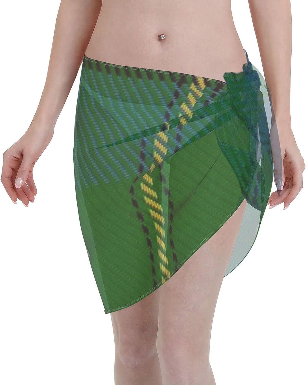 2053 pants JohnstoneJohnston ClanFamily Tartan Women Chiffon Beach Cover ups Beach Swimsuit Wrap Skirt wrap Bathing Suits for Women