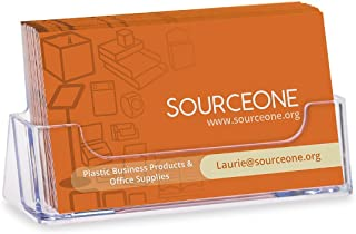 Source One Quantity 10 Clear Plastic Business Card Holder Display Counter (S1-CA-10PBC)