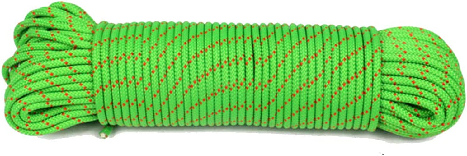6MM Mountaineering Auxiliary Outdoor Expansion Home Spare Rope Green,Green10m6mm