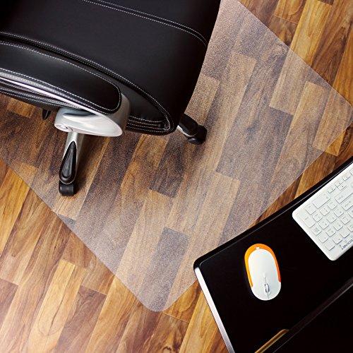 Marvelux Polycarbonat Bodenschutzmatte für Hartböden | 150 x 120 cm | rechteckig | transparent | in verschiedenen Größen erhältlich