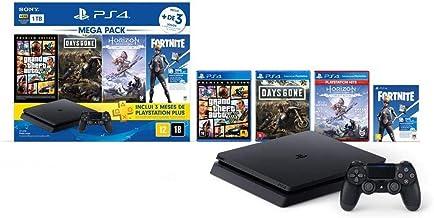 Console PlayStation 4 1TB Bundle Hits 6 - Horizon Zero Dawn Complete Edition, Days Gone, Grand Theft Auto V Premium Editio...
