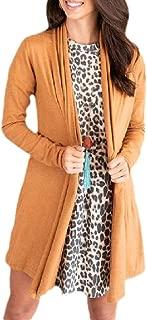 Womens Knit Sweaters Long-Sleeved Open Front Cardigan Outwear