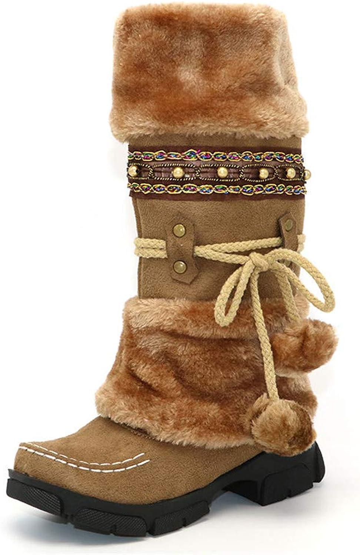 Julitia Snow Boots Plush Fur Inside Warm Winter shoes Woman Platform Knee High Boots